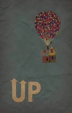 UP movie poster - minimalist redesign