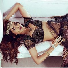 Sonam Kapoor In A Black Embroidered Manish Malhotra #Blouse for Harper's Bazaar India Photoshoot.