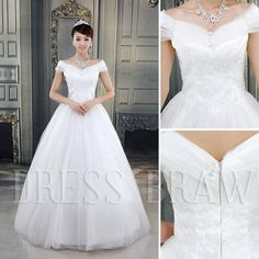 Amazing Ball Gown Floor-length Off- Shoulder Wedding Dress