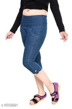Capris Stylish Women Stretchable Denim Capries  Fabric: Stretchable Denim Pattern: Solid Multipack: 1 Sizes: 34 (Waist Size: 34 in Length Size: Up to 27 in) 36 (Waist Size: 36 in Length Size: Up to 27 in) 38 (Waist Size: 38 in Length Size: Up to 27 in) 28 (Waist Size: 28 in Length Size:Up to 27 in) 40 (Waist Size: 40 in Length Size:Up to 27 in) 30 (Waist Size: 30 in Length Size: Up to 27 in) 32 (Waist Size: 32 in Length Size: Up to 27 in) Country of Origin: India Sizes Available: 28, 30, 32, 34, 36, 38, 40   Catalog Rating: ★4.2 (395)  Catalog Name: Free Mask Classy Sensational Women Capris CatalogID_1043823 C79-SC1037 Code: 594-6552221-2031