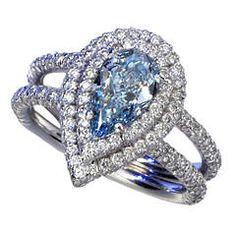 Magnificent Blue Diamond Ring