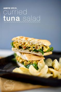 confessions of a foodie | recipes + photos + life stories: meatless mondays (sorta): curried tuna salad ( a bite)