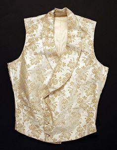 (1856) American wedding vest made of silk.