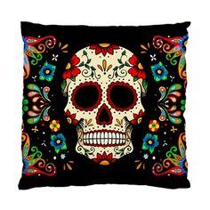 Lttle Shop Of Horrors | Fiesta Skull Pillow Cushion Case | Online Store Powered by Storenvy