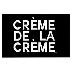 KESS InHouse Geordanna Cordero-Fields 'Creme De La Creme' Black White Dog Place Mat, 13' x 18' * See this great image  : Dog food container
