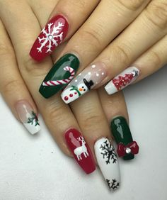 60 Christmas Nails Offers You a Special Look at the Festival - Chicbetter Inspir. , 60 Christmas Nails Offers You a Special Look at the Festival - Chicbetter Inspiration for Modern Women - Beauty - Nail Art Noel, Xmas Nail Art, Christmas Gel Nails, Christmas Nail Art Designs, Holiday Nails, Seasonal Nails, Christmas Design, Nail Art Cute, Cute Nails
