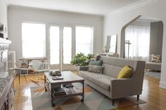 Shop the Room: Anne & Steves Modern Pastel Living Room | Apartment Therapy