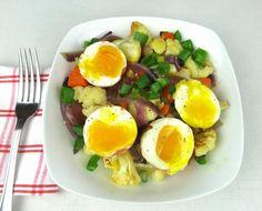 Paleo Cauliflower Hash with Eggs #JanesHealthyKitchen