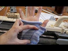 Индийский клин на вязальной машине - YouTube Knitted Gloves, Fingerless Gloves, Knitting Machine Patterns, Arm Warmers, Mittens, Diy And Crafts, Knitwear, Youtube, Knitting Machine