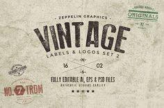 Vintage Badges & Labels Set #logotemplates #badgetemplates #vectorgraphics #insigniatemplates #megabundle