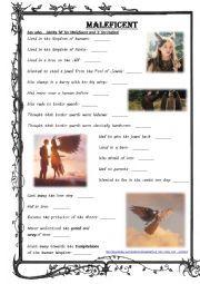 English worksheet: Maleficent episode comprehension