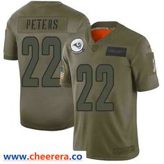 Nike Los Angeles Rams #22 Marcus Peters Camo Men's Stitched NFL Limited 2019 Salute To Service Jersey