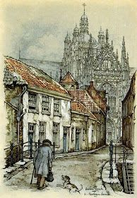 Artist: Anton Pieck Dutch illustrator best known for his fairy-tale like characters. Are you reminded of Hans Christia. Anton Pieck, Visual And Performing Arts, Dutch Painters, Encaustic Painting, Chalk Pastels, Arabian Nights, Wood Engraving, Linocut Prints, Figure Painting