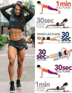 Rückentraining mit Hanteln If you want to take off your waist and form a highly defined core, these are the 6 best side plank variations – Yoga & Fitness Core Workout Routine, Body Workout At Home, Best Ab Workout, Abs Workout For Women, Yoga Routine, Workout Tips, Plank Workout, Workout Plans, Dancer Workout Plan