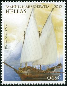 2012~~Ελληνική ναυτιλία Β΄ Sir Gilbert, Cloud Drawing, Stamp Collecting, Postage Stamps, Sailing Ships, Lighthouse, Street Art, Around The Worlds, Ocean