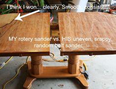 Rotary Sanders vs. Belt sanders