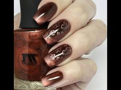 Стемпинг дизайн магнитным лаком MASURA / Stamping Nail Art with MASURA Magnetic Nail Polish - YouTube