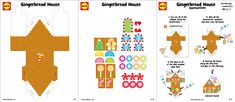 Gingerbread House Craft with free #printables | alexbrands.com