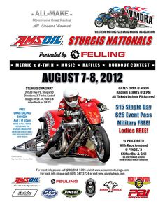 Please join the WMDRA at the 72nd Annual Sturgis Motorcycle Rally as we present the AMSOIL Sturgis Nationals on August 7-8 @ Sturgis Dragway!