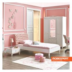 Beautiful Princess Bed For The Young Girl Room Bed For Girls Room, Bedroom Decor For Teen Girls, Girl Room, Kids Bedroom, Bedroom Ideas, Wardrobe Design Bedroom, Girl Bedroom Designs, Kids Princess Bed, Teenage Girl Bed