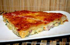 Tourte au jambon, fromage et pommes de terre