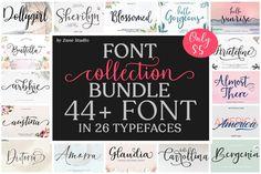 Font Collection Bundle #font #script #wedding