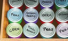 Label Your Canned Food | Creative Canned Food Storage Ideas