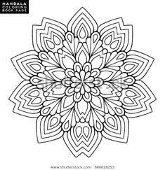 Outline Mandala Coloring Book Decorative Round: стоковые изображения в HD и миллионы других стоковых фотографий, иллюстраций и векторных изображений без лицензионных платежей в коллекции Shutterstock. Ежедневно добавляются тысячи новых высококачественных фотографий. Mandala Art, Mandala Design, Mandalas Painting, Mandalas Drawing, Flower Mandala, Mandala Pattern, Flower Art, Flower Shape, Flower Coloring Pages