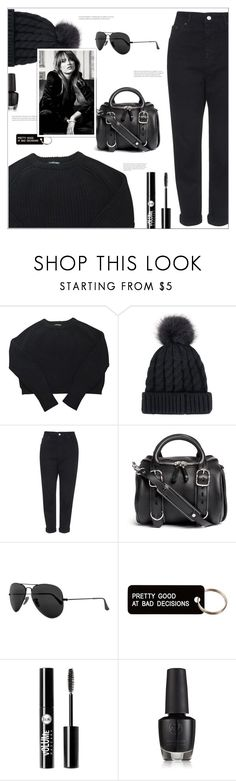 """""""All black"""" by arwitaa on Polyvore featuring American Apparel, Topshop, Alexander Wang, Ray-Ban, Various Projects and Charlotte Russe"""