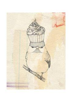 Cupcake Bird