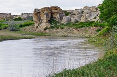 Looking down the Milk River, Writing-on-Stone Provincial Park