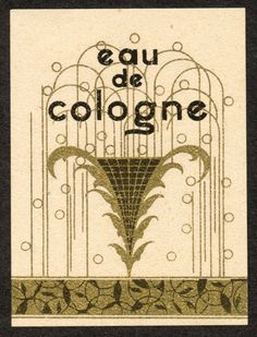 Original C 1925 Eau de Cologne Vintage French Perfume Label | eBay