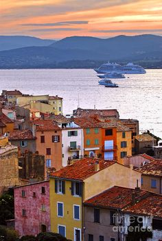Cruise Ships at St. Tropez, France | by Elena Elisseeva