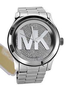 Michael Kors mk5544 pista en tono plateado cristal pavé Dial Para Mujer Reloj De Regalo