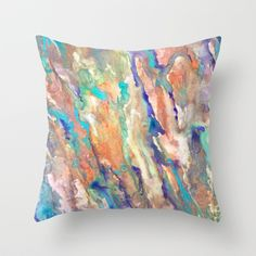 Eucalyptus Throw Pillow by Rosie Brown - $20.00  #art #homedecor #abstract #watercolor #society6