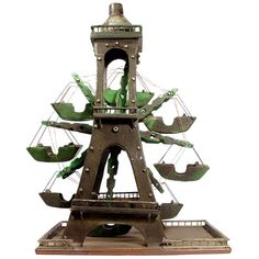Folk Art Eiffel Tower Ferris Wheel | From a unique collection of antique and modern outsider and self taught art at http://www.1stdibs.com/furniture/folk-art/outsider-self-taught-art/