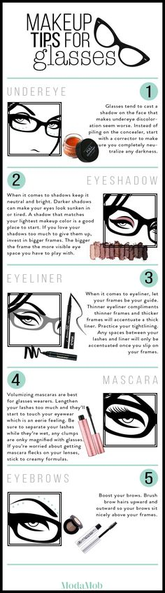 These makeup tips will help you create that dramatic bespectacled look.