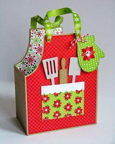 Doodlebug Christmas Treat Box by Mendi Yoshikawa using Lori Whitlock's cutting file.: