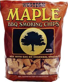 Bayou Classic Western Maple Smoking Chips - 12 Pound Bag