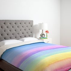 30% off 12/13/13 only with code LASTCHANCE30!! Joy Laforme Rainbow Ombre Duvet Cover | DENY Designs Home Accessories