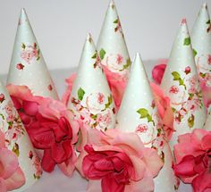 gorgeous party hats, etsy, but i'll try making them