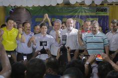 CAMAÇARI: ACM Neto faz discurso conciliatório, mas Geddel escanteia Elinaldo e quer Tude para prefeito