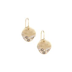 Organic Pave Disc Earrings