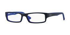 Ray-Ban RX5246 Eyeglass 5224 Black/Matte Blue Frame Size 50-16-135