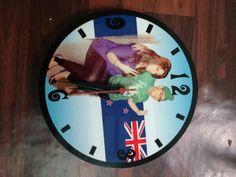 Round customized wall clock
