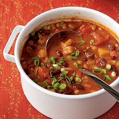 Three-Bean Vegetarian Chili Healthy Recipe < Vegetarian Soups and Stews - Cooking Light Mobile