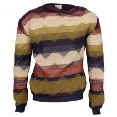 Vivienne Westwood Man Gold Label Rickinson Blanket Sweater - Navy/Multi | Sold At GarmentQuarter