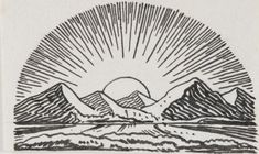 """""""Sunrise,"""" date unknown, by Rockwell Kent © Plattsburgh State Art Museum, State University of New York, USA, Rockwell Kent Collection, Bequest of Sally Kent Gorton, All rights reserved."""
