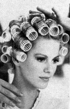 rouleaux et voilette | wet set with rollers | Pinterest | Dryers ...