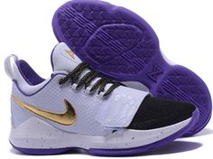 b961f17869c9 Paul George PG1 generation basketball shoes Black Varsity purple - Dicount  Nike Store